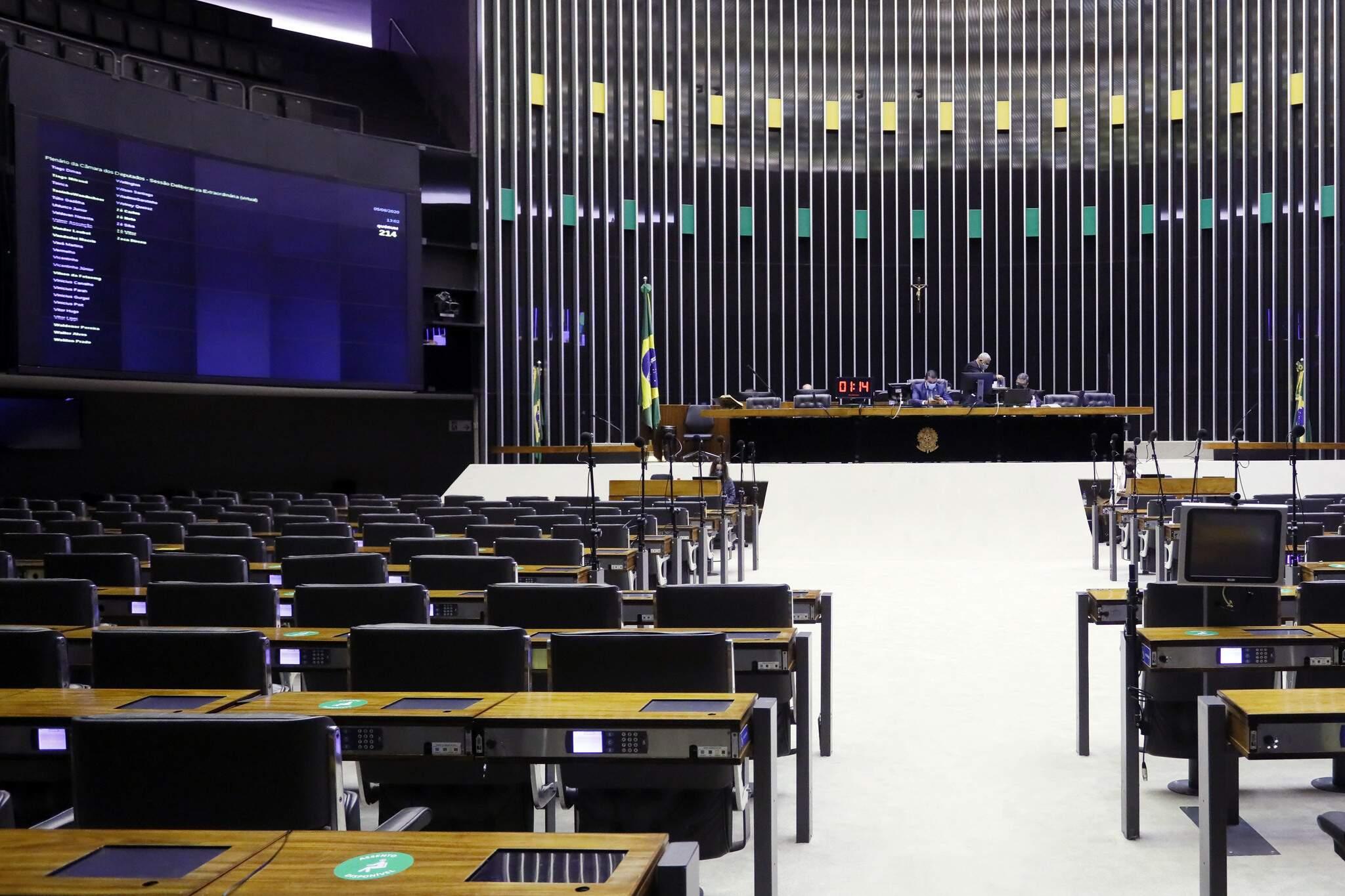 Plenário da Câmara dos Deputados, em Brasília (DF), na semana passada (Foto: Najara Araujo/Câmara dos Deputados)