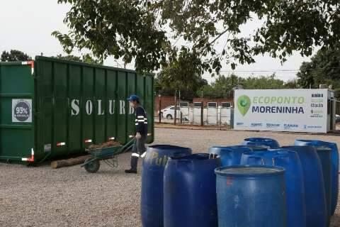Ecoponto para descarte de lixo eletrônico é instalado na região das Moreninhas