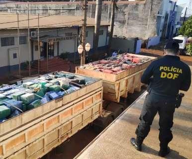 Maconha carregada em bi-trem pesa 33,3 toneladas, maior apreensão da história