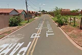 Rua onde ocorreu o caso no Jardim Vida Nova, em Campo Grande. (Foto: Google Street View)