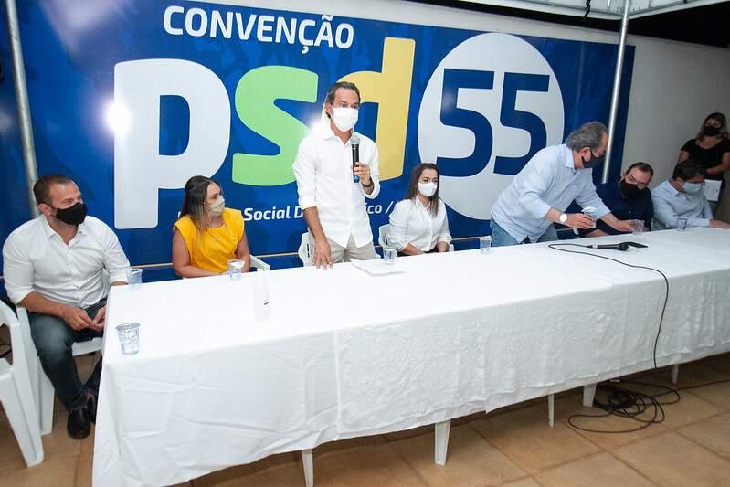 Prefeito Marquinhos Trad (PSD), durante convenção do PSD (Foto: Divulgação - PSD)