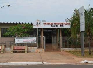 Unidade da Uems em Coxim. (Foto: Edição MS)