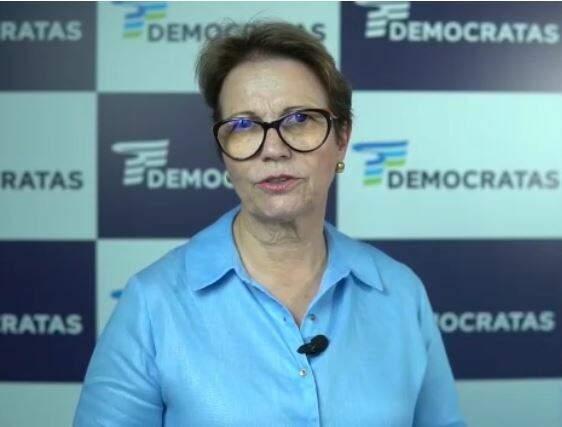 Ministra em vídeo divulgado nesta segunda-feira. (Foto: Reprodução)