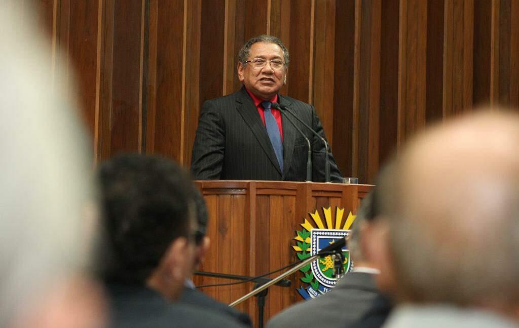 Pastor em evento da Assembleia Legislativa em 2013. (Foto: Divulgação)