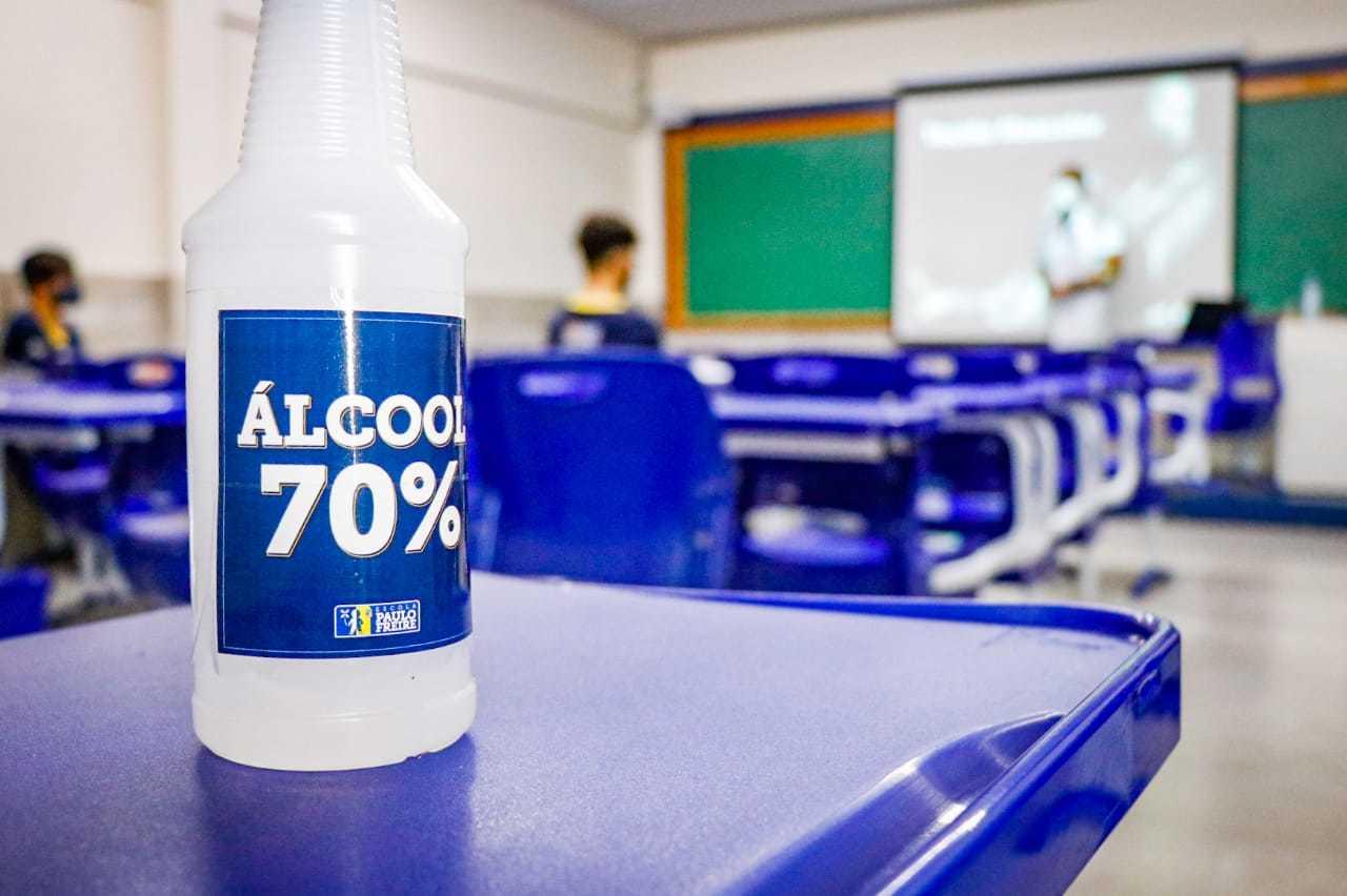No dia 19 de outubro as aulas voltaram no Ensino Médio. (Foto: Marcos Maluf/Arquivo)