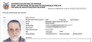 Paulo Cupertino virou Manoel Machado da Silva em novo documento. (Foto: Reprodução)