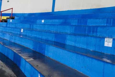 Falha em calha permitiu entrada de água no Guanandizão, explica Fundesporte
