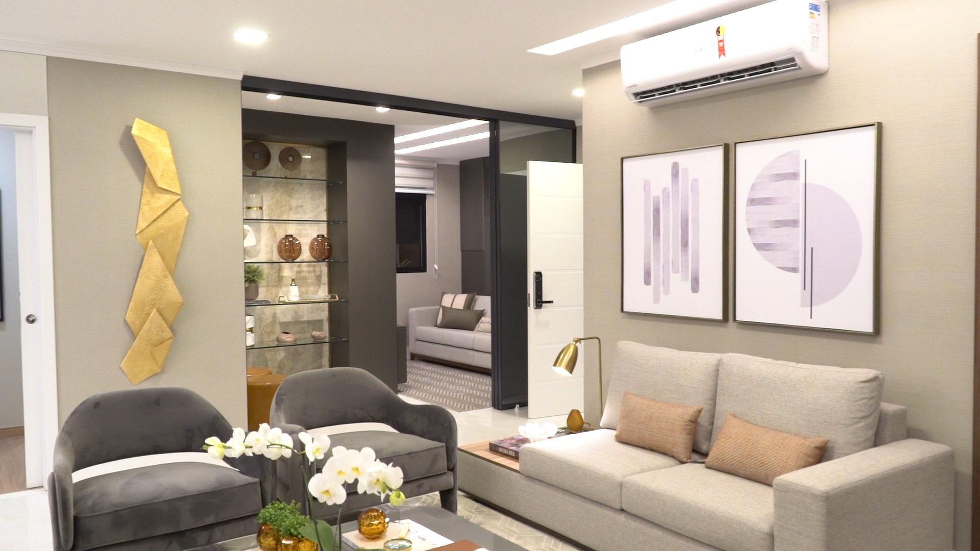 Projetado pelas arquitetas Annelise Giordano e Gelise Almeida, apartamento decorado já está disponível para visitas (Foto: Festas e Eventos TV)