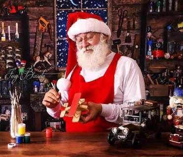 Papai Noel de shopping partiu, mas deixou viva a ilusão do bom velhinho