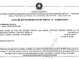 Print de documento anexado ao inquérito no STF mostra que chegou a ser expedida a guia de recolhimento de Trutis na condição de preso. (Foto: Reprodução de peça processual)