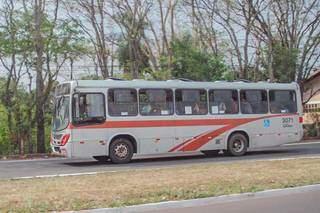 Ônibus do transporte coletivo de Campo Grande. (Foto: Silas Lima | Arquivo)