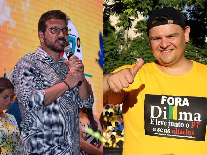Os candidatos a prefeitura de Campo Grande em 2020, Pedro Kemp (PT) e Vinicíus Siqueira (PSL) (Foto: Divulgação)