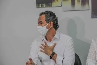 Marquinhos durante entrevista na tarde de hoje. (Foto: Silas Limas)