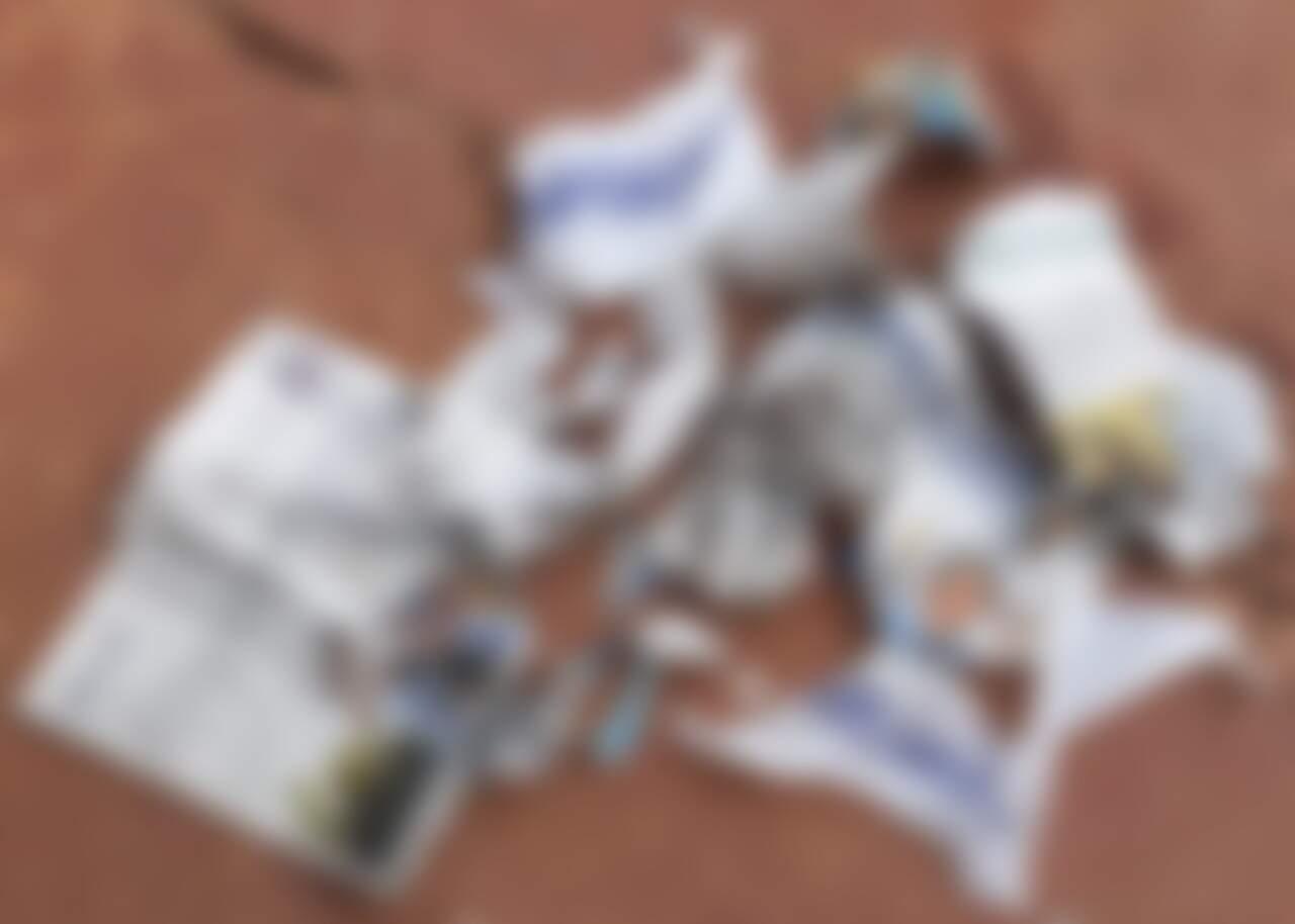 Jornais que trouxeram na capa o resultado da eleições foram rasgados por cadela na casa de outra leitora (Foto: Direto das Ruas)