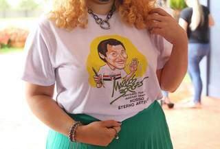 Camiseta usada pela família. (Foto: Paulo Francis)