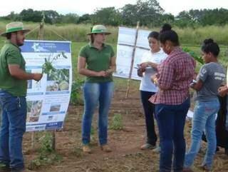 Aula de campo dos alunos da Uems de Aquidauana. (Foto: Portal Aquidauana)