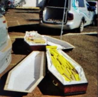 Operação busca quadrilha que traficava maconha em caixões