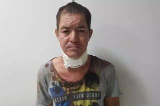 Adão Alves de Sales, 45 anos, preso por matar a própria mãe. (Foto: Direto das Ruas)