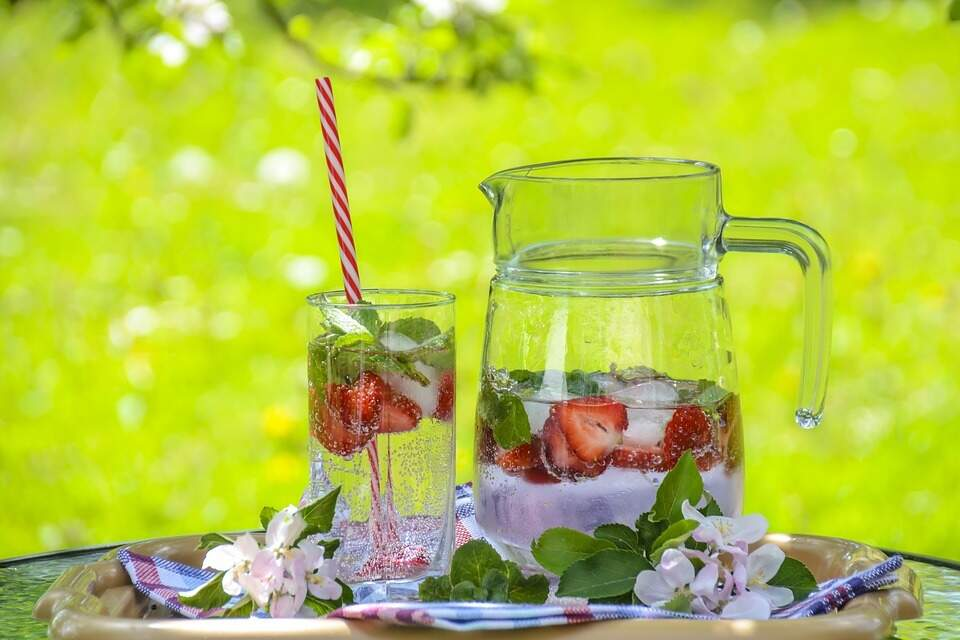A ingestão de líquidos é primordial após exageros (Foto: Reprodução/Pixabay)