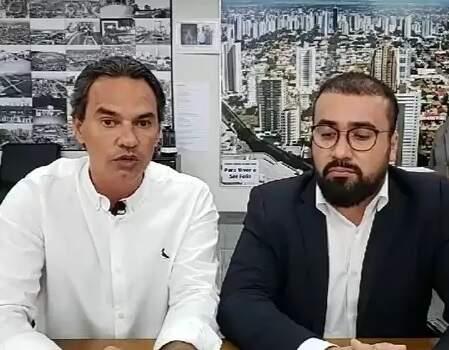 Marquinhos Trad e o procurador do Município, Alexandre Ávalos (Foto/Reprodução)