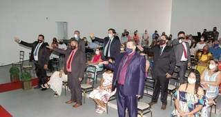 Posse dos vereadores na Câmara de Angélica nesta sexta-feira. (Foto: Portal Angélica)