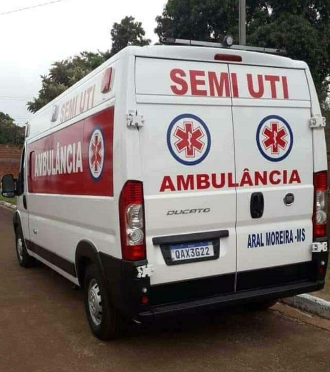 Ambulância de Aral Moreira que estava desaparecida. (Foto: Divulgação)