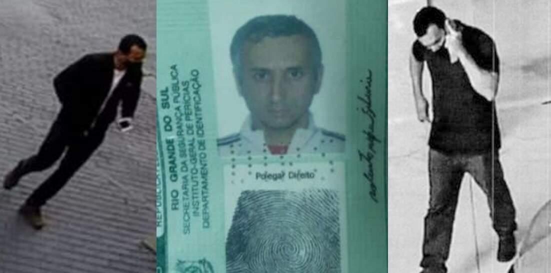 """""""Robertinho"""", que está preso, aparece, segundo a polícia, em imagens de câmera em Campo Grande e Goiânia. (Foto: Reprodução de processo)"""