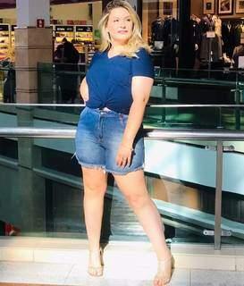 Na época em que modela para marcas regionais (Foto: Arquivo Pessoal)