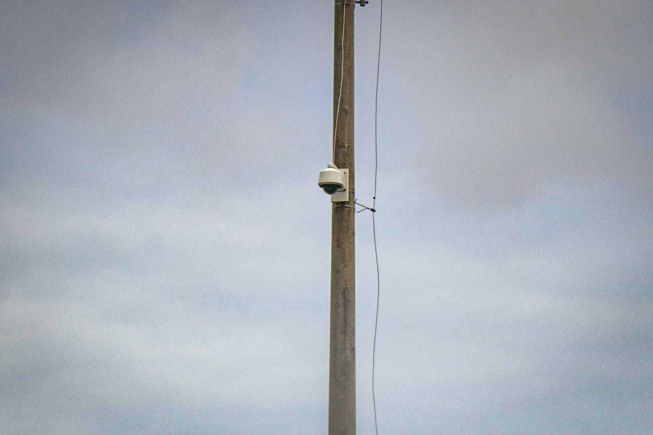Câmeras já tinham sido instaladas pelo Dahma empreendimento que começou a vender terrenos em 2006 na Capital. (Foto: Henrique Kawaminami)