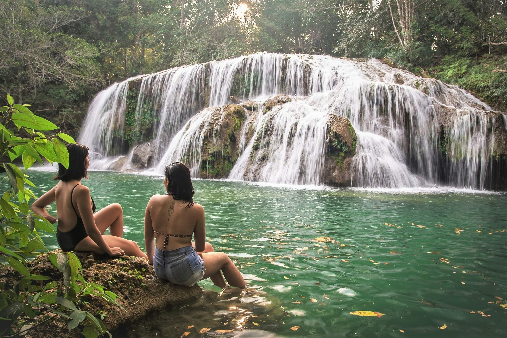 Cachoeira do Sinhozinho é uma das belezas de Bonito (MS) (Foto: Thyago Sabino/Divulgação)