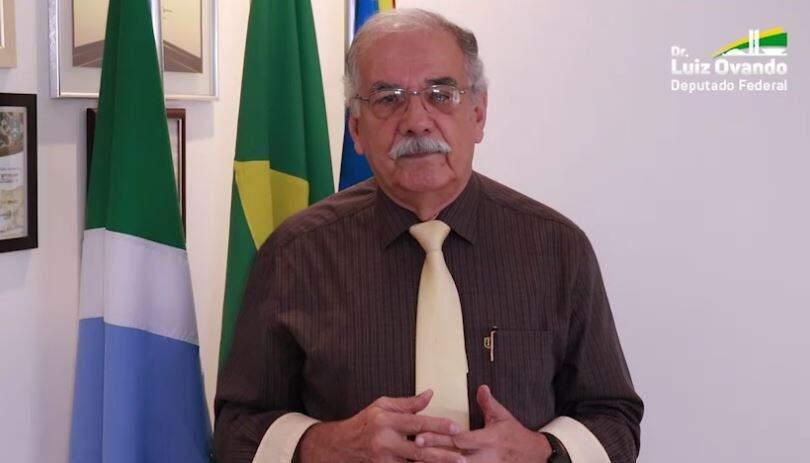 Luiz Ovando (PSL) em vídeo postado nas redes sociais.