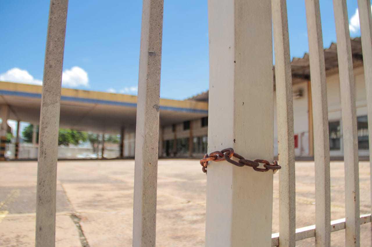 Unidade da Sefaz (Secretaria de Estado de Fazenda) localizada na Avenida Calógeras estava fechada nesta manhã. Foto: Marcos Maluf