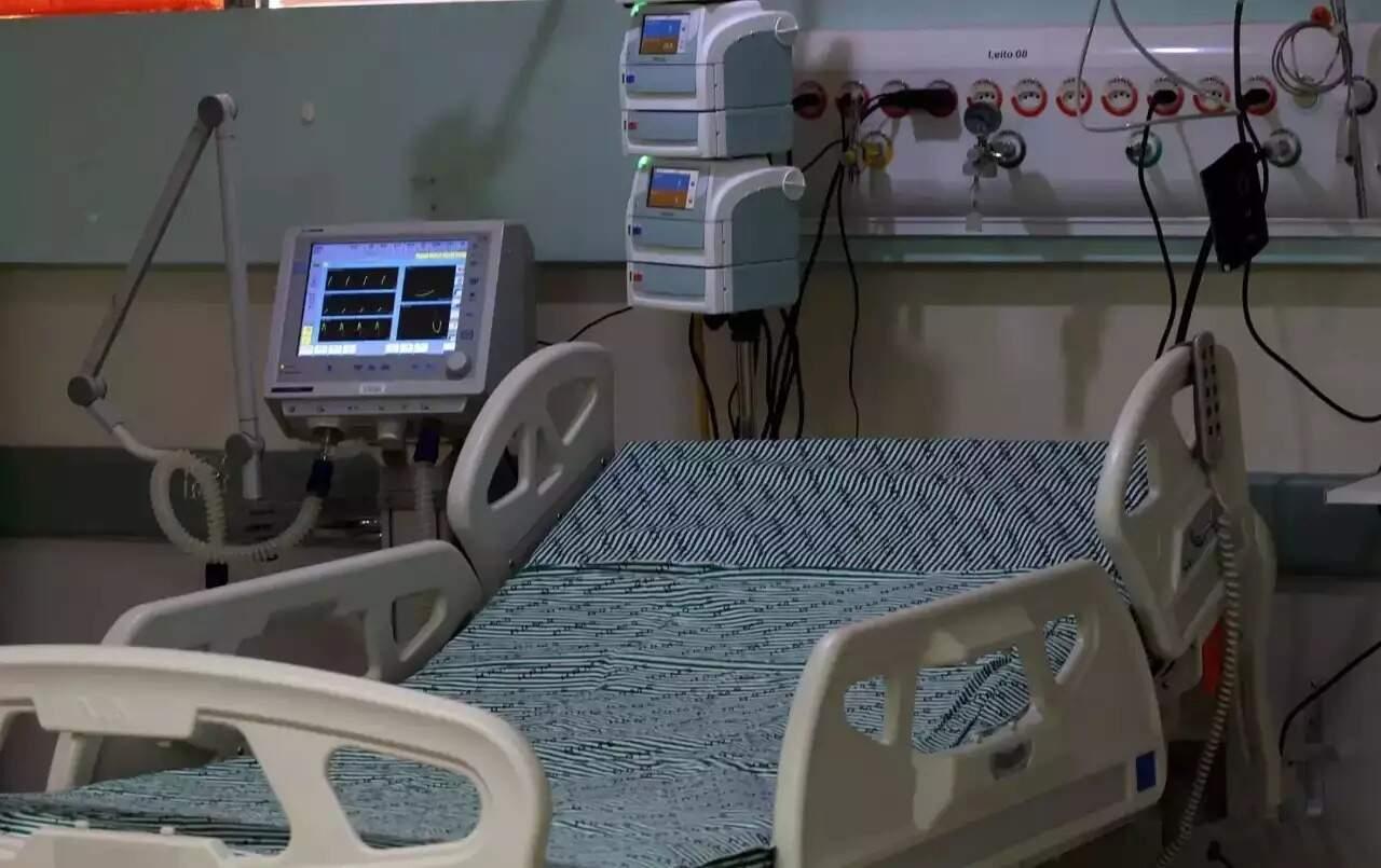 Leito hospitalar em unidade de saúde no Mato Grosso do Sul (Foto: Arquivo)
