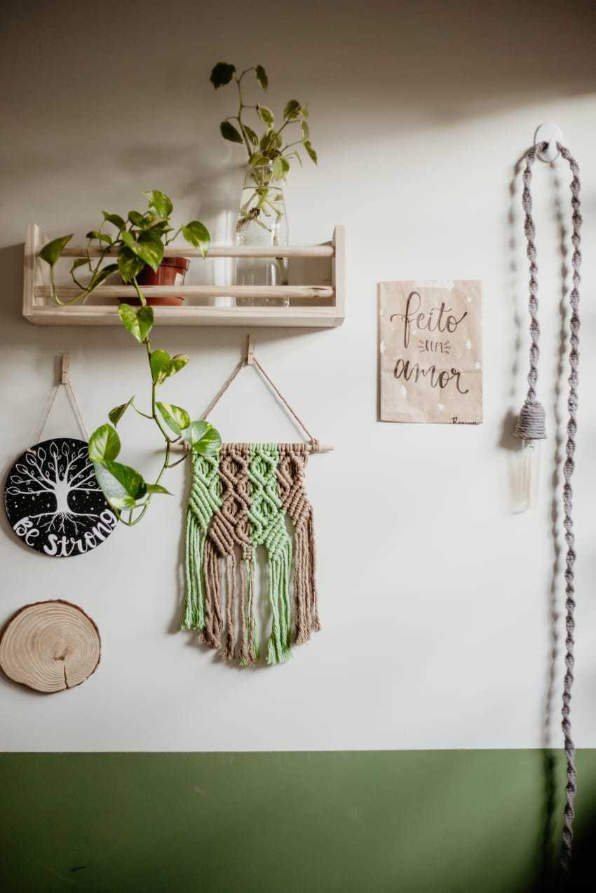 Em sua casa, tudo foi feito no estilo faça você mesmo. (Foto: Stephanie Gomes)