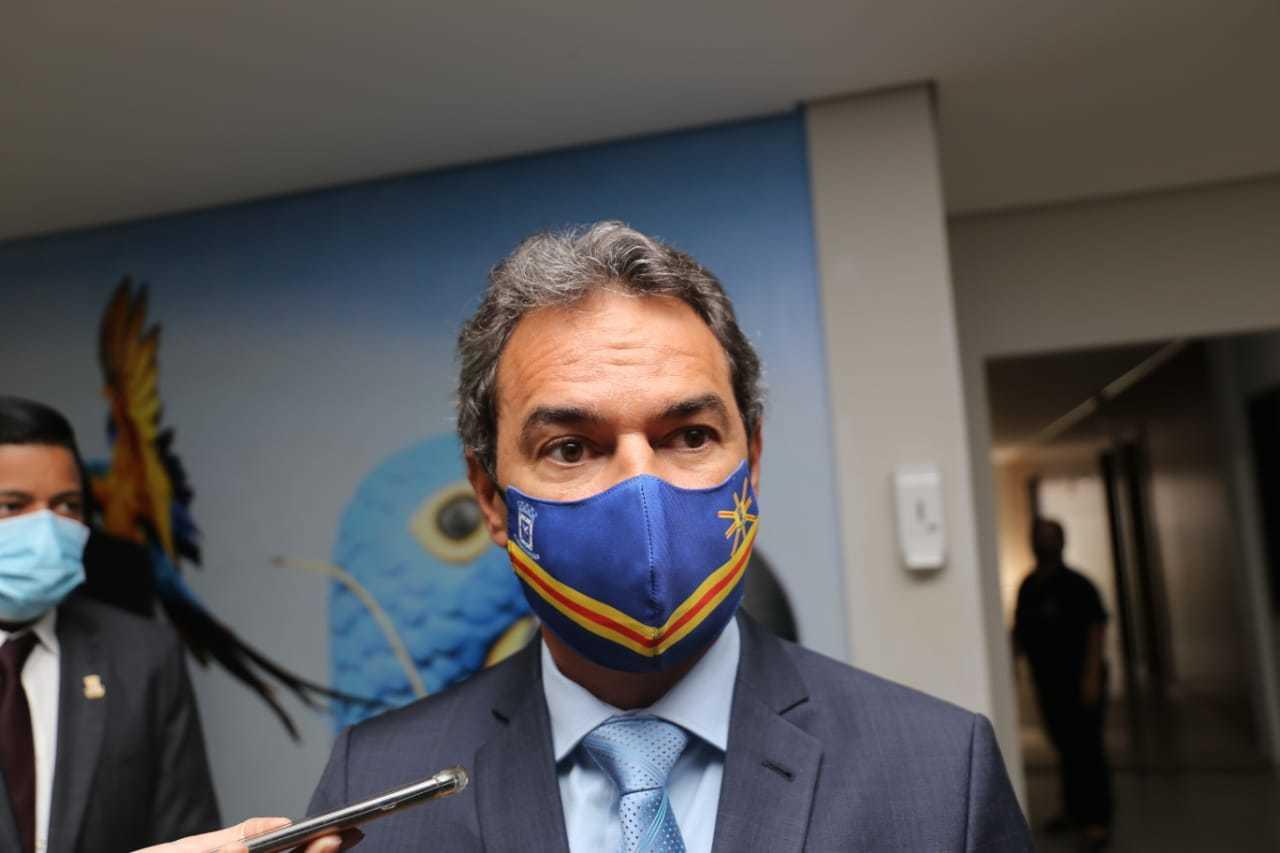 Prefeito da Capital, Marquinhos Trad, confirmou escolha por Beto Avelar como líder na Câmara (Foto: Paulo Francis)