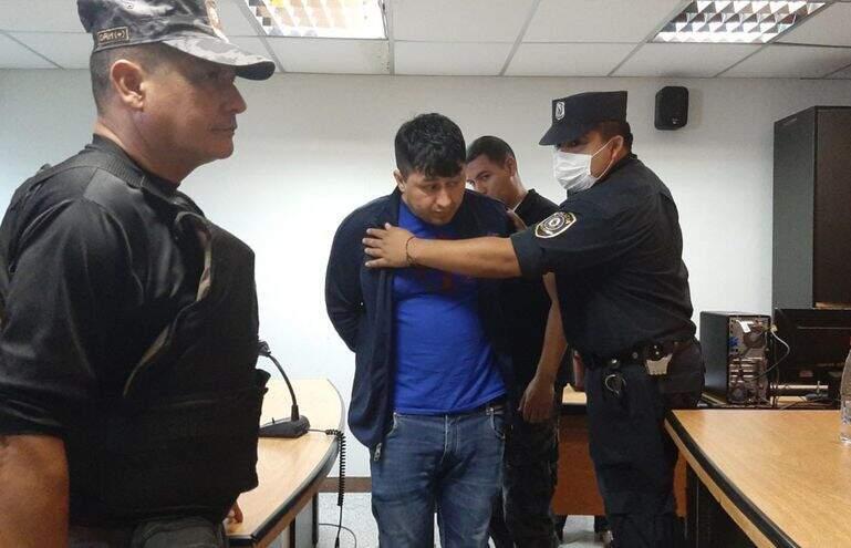 Armando Javier Rotela durante julgamento em março de 2020 (Foto: ABC Color)