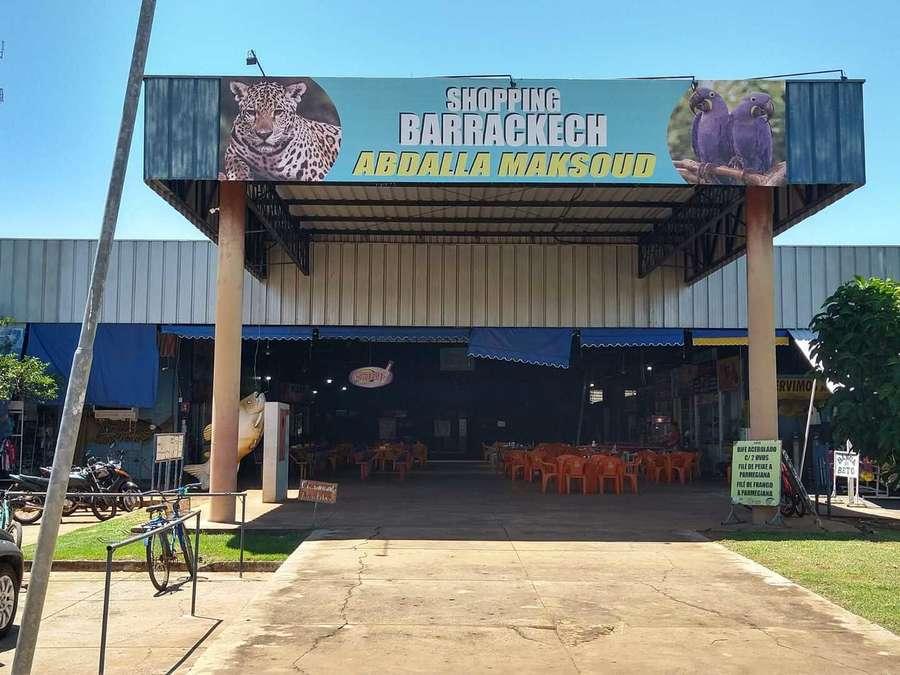 Entrada do centro comercial, em Aquidauana (Foto: Reprodução/O Pantaneiro)