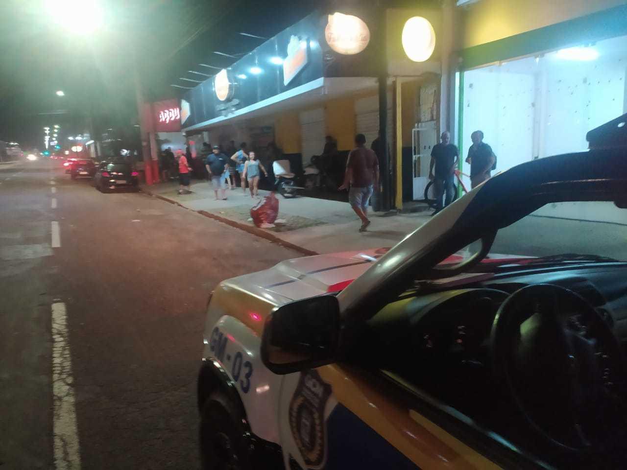 Fiscalização da Guarda Civil Metropolitana durante toque de recolher nessa sexta-feira (Foto: Divulgação/GCM)