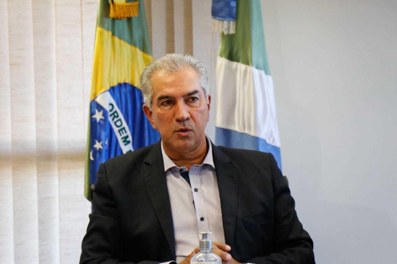 Governador Reinaldo Azambuja falou sobre reforma tributária e impacto aos estados (Foto: Henrique Kawaminami)