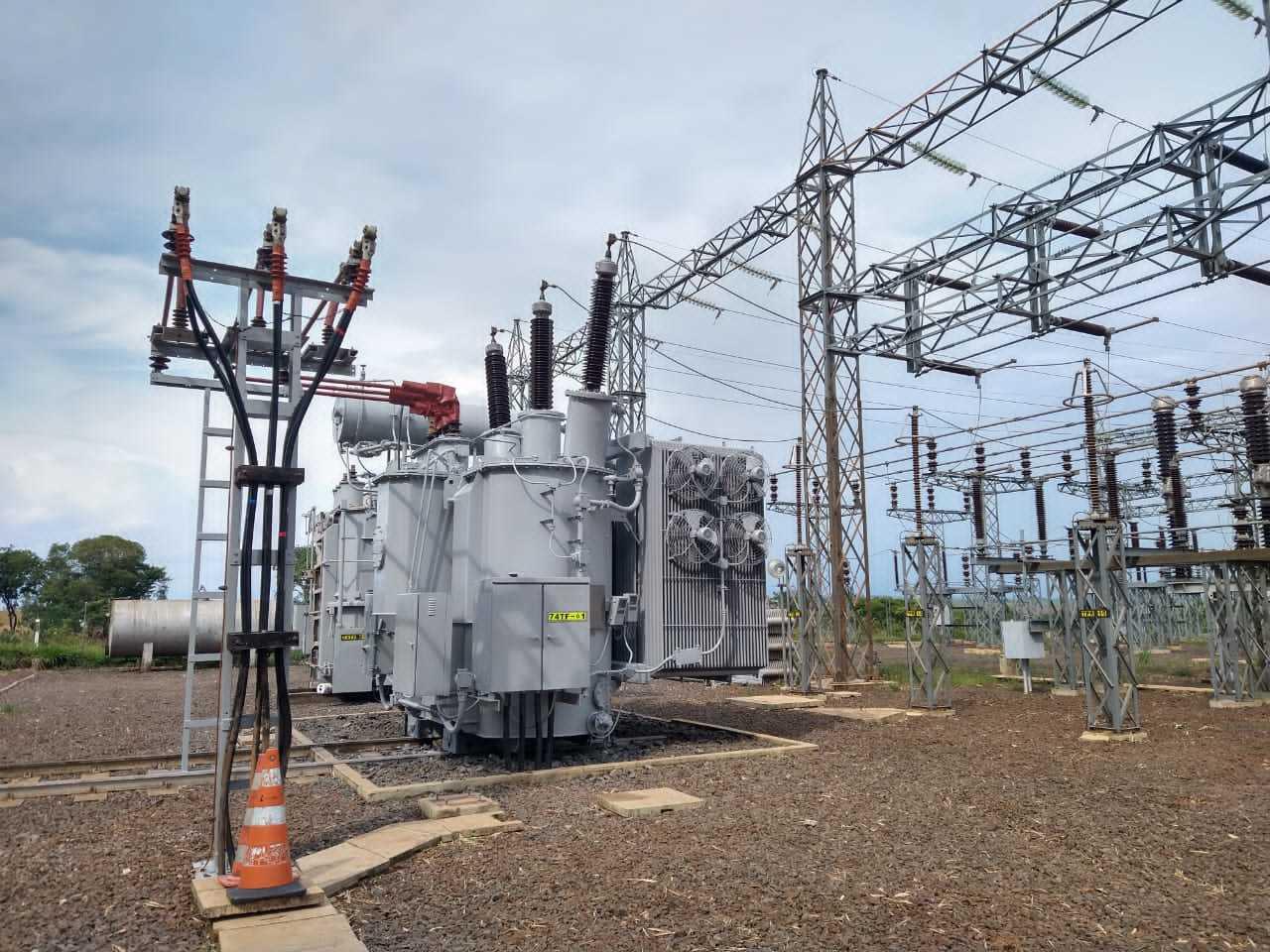 Subestação construída pela Energisa, em Sidrolândia. (Foto: Divulgação)