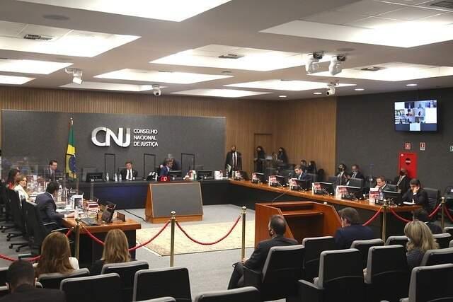 Plenário do CNJ, que expediu recomendação para juízes sobre despejos de pessoas em situação vulnerável. (Foto: Divulgação)