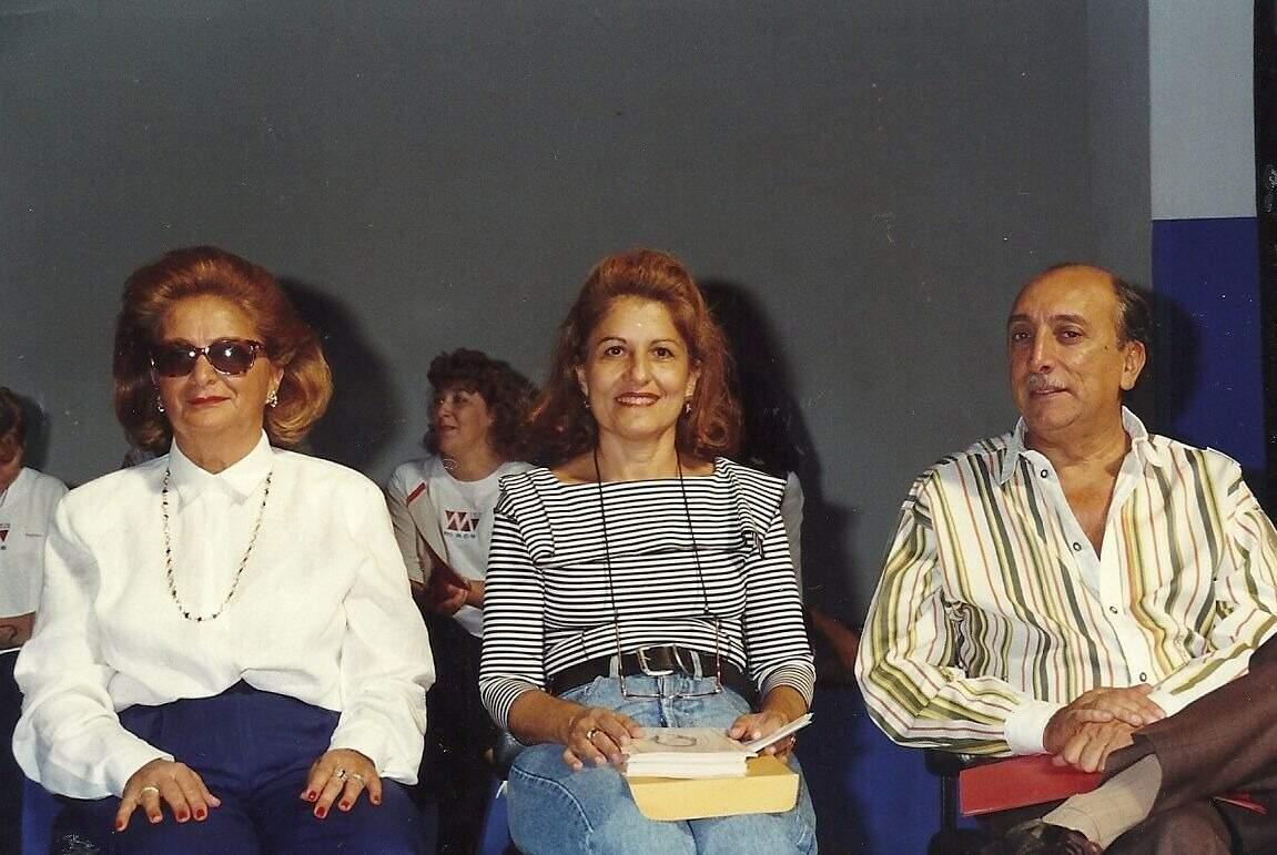 Da esquerda para a direita: Therezinha, Reni e Pedro Chaves (Foto: Arquivo Pessoal)