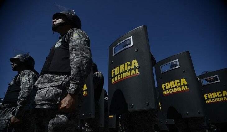 Equipes da Força Nacional reforçam segurança em MS, a pedido do governo (Foto: Fábio Rodrigues Pozzebom/Agência Brasil)