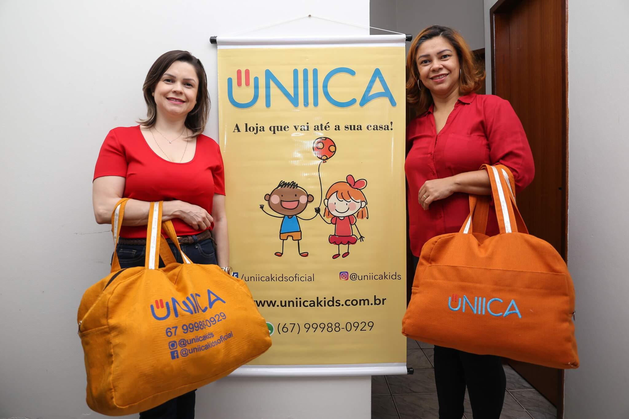 De clientes, Walkyria e Weruska se tornaram proprietárias da Úniica Kids. (Foto: Paulo Francis)