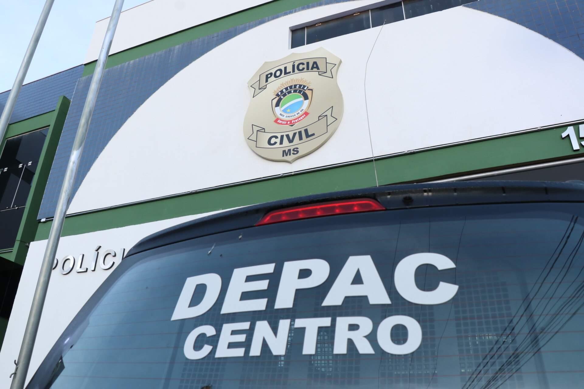 Caso foi registrado na Depac da região central de Campo Grande (Foto/Arquivo: Henrique Kawaminami)