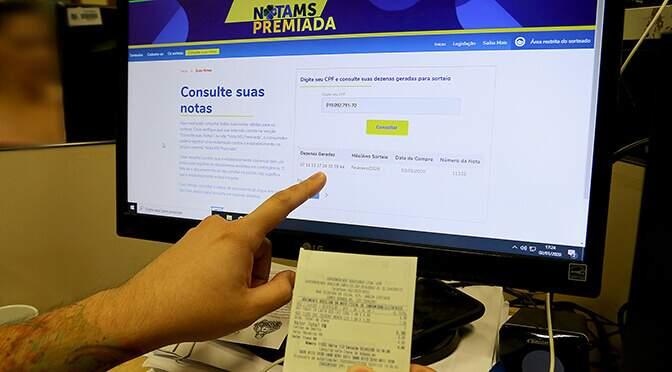 Números sorteados podem ser consultados no site da Nota MS Premiada. (Foto: Divulgação)