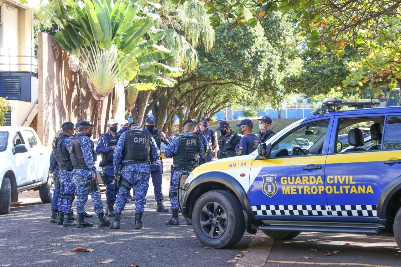 Equipe da Guarda Civil Metropolitana de Campo Grande (Foto: Arquivo)