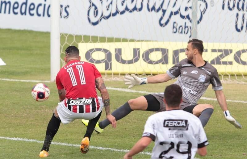 Luciano marcou seu primeiro gol da temporada nesta tarde de quarta-feira (Foto: Rubens Chiri / SPFC)