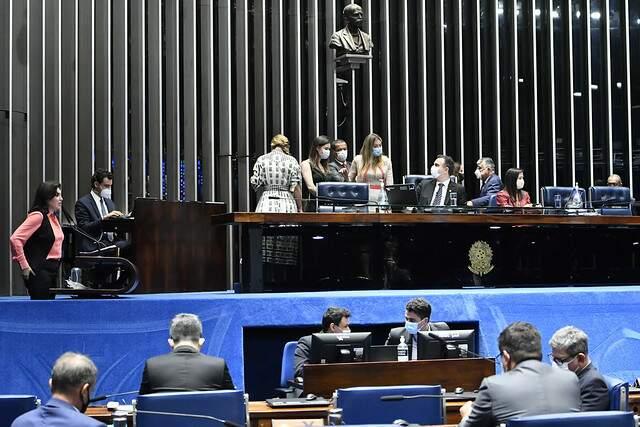 Votação da PEC, em segundo turno, no Senado Federal (Foto: Divulgação/Senado Federal)