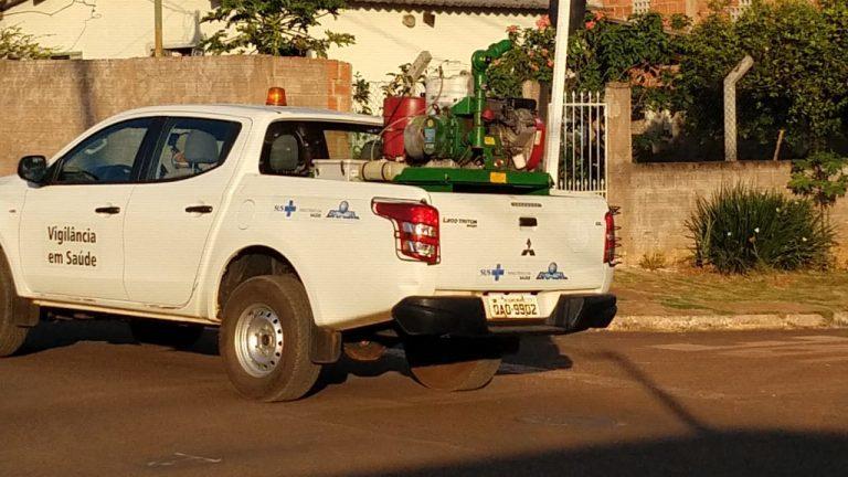 Carro preparado para realizar borrificar inseticida por bairros de Campo Grande (Foto: Divulgação/PMCG)
